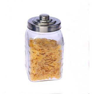 Glass Canister With Metal Lid, Large Capacity, 3230ML