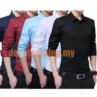 Plus Size Mens Long Sleeve Slim Fit Shirts Formal Shirts Business shirt M-5XL