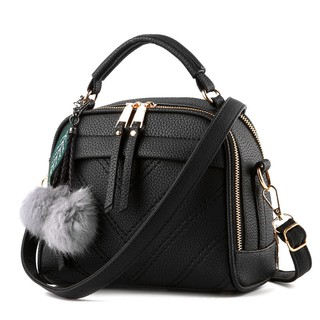 Dreamtale Fashion Women Handbag Bag Classy Office Lady [Free Fur Ball Keychain]