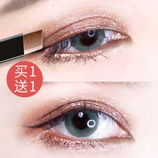 Beginners double color eyeshadows stick plate of the lazy man pearl pen flash powder waterproof eyeliner forming web c