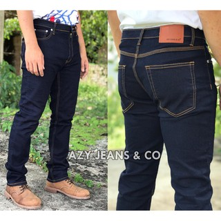 Original Jeans Slim Fit + FREE GIFT, Size 28 - 48 (Dark Blue) Azy Jeans & Co.
