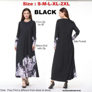 Korea NJ ModernMuslimah Collections Flora Jubah