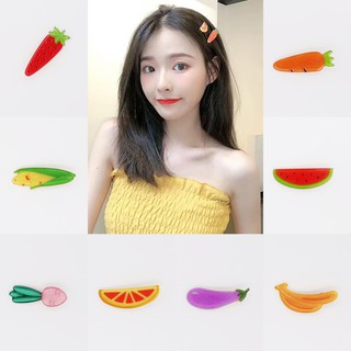 Fruit Hair Clip Korea Fashion Hair Accessories Summer Fruit Vegetables Hair Clip for Girls Ladies