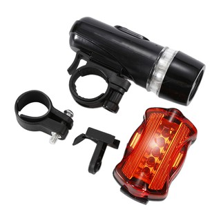 Bycicle lights kit 5 LED Front Rear Head Light+Taillight Flashlight Lamp Du ZFJN