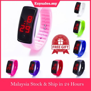 [MALAYSIA 🇲🇾] Sports Silicone Band LED Digital Wrist Watch