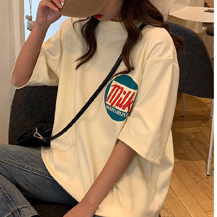 Korean Style Ready Stock 2019 Summer hot ins style oversize short sleeved t- shirt cool casual shirt