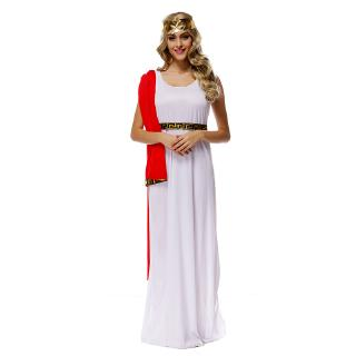God King Zeus Athena White Goddess Costume Halloween Costume Adult Female Cosplay Costume Dress