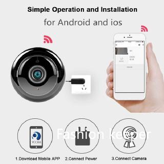 720P Mini Wifi New HD IP Camera Wireless CCTV Infrared Night Vision Motion Detection 2-Way Audio Tracker Home Security