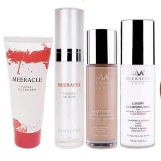 Set Paling HotMEERACLE GEMSTONE SERUM + CLEANSER Ori