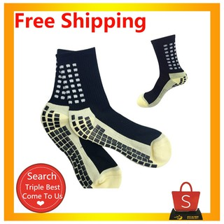 【Lowest Price】Silicone Point Anti Slip Cotton Sport Soccer Football Socks instok