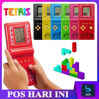 READY STOCK 💥Mini Portable LCD 9999 in 1 Fun Retro Classic Brick Tetris Arcade Game Handheld Electronic Toy