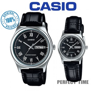 (2YEARS WARRANTY) CASIO MTP&LTP-V006L-1B  COUPLE MEN'S WOMEN'S DAY DATE