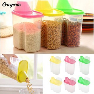 HOT!1.9/2.5L Rice Cereal Bean Food Dispenser Container Sealed