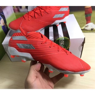 "Adidas Nemeziz Messi 19.1 FG ""Dark Script"" knitted waterproof football shoes men's soccer shoes free shipping"