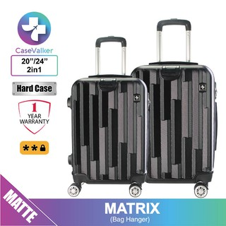 Case Valker Matrix ABS 2 in 1 Luggage Bag with Hanger Set Luggage (24