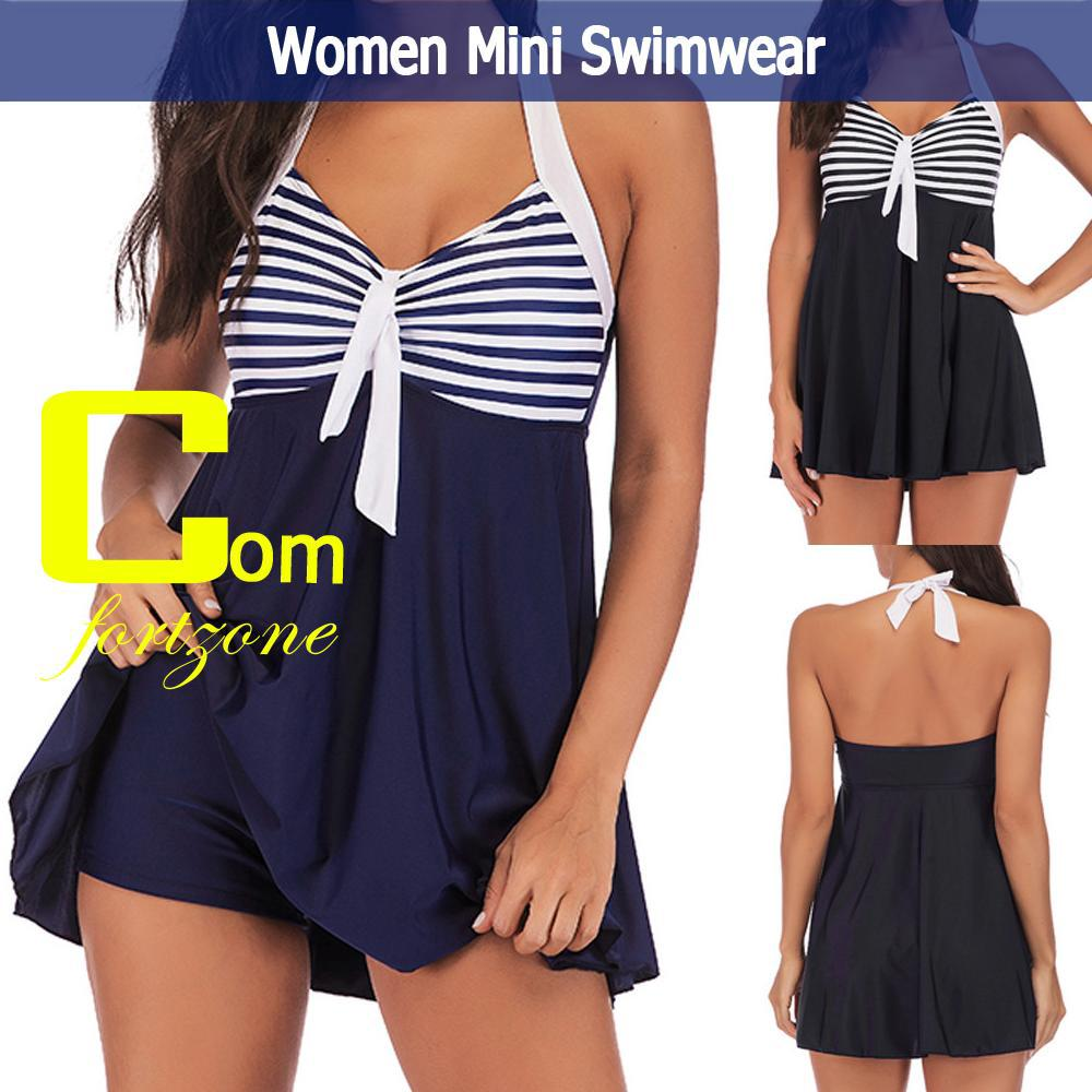 100% Brand NewFashion Women Plus Size Striped Padded Swimwear