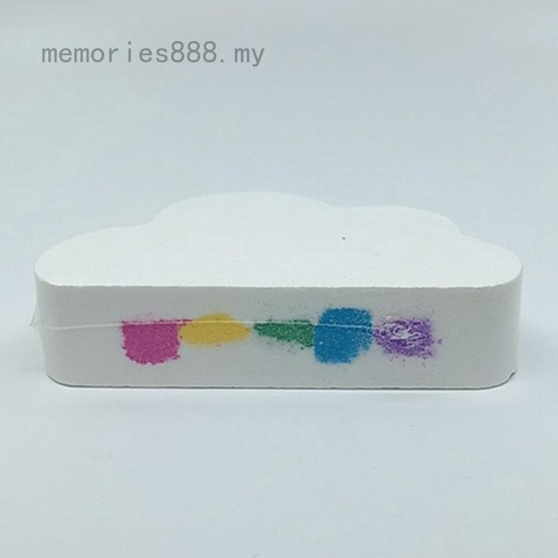 Rainbow Cloud Salt Essential Oil Bathing Ball Bubble Exfoliating Moisturizing Skin Care Props Natural  Bath Bomb Ball
