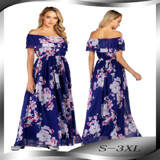 New Spring and Summer Plus Size Printing Sleeveless Dress Chiffon Holiday Beach Skirt