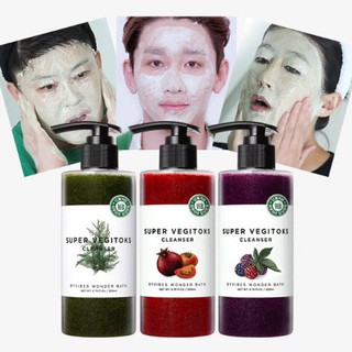 wonder bath super fresh fruits and vegetables facial cleansing 300ml