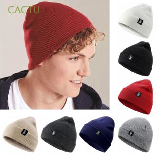 CACTU Winter Warm Navy Style For Men Women Bonnet Skullcap Warm Knit Hats