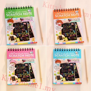 KittyKids Stationery Set Notebook Stylus Scratch Paper Note Drawing Educational Toys