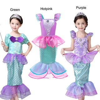Fancy Baby Girls Princess Little Mermaid Dress Holiday Child Prom Halloween Birthday Party Gown