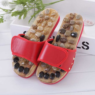Foot Care Pebble Stone Massage Slippers Reflexology Elderly Acupuncture Shoes