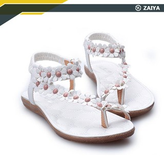 Zaiya-BOHEMIA Sandals Flat Slippers Flip Flops Summer Women Beach Sandals