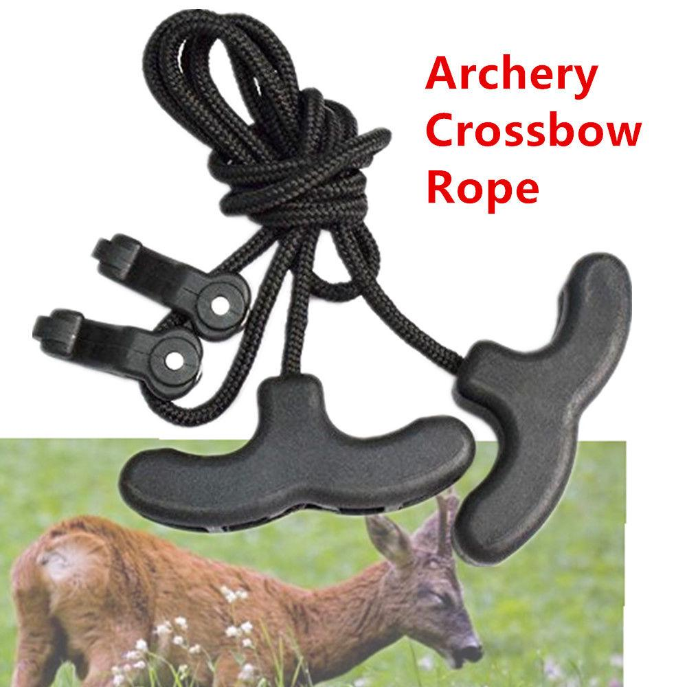 Archery Crossbow Rope Cocking Device Double Handle For Outdoor Accessories 1Pc