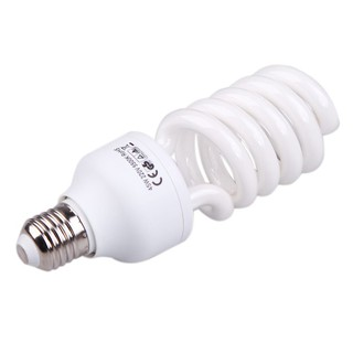 Compact E27 220V 5500K 45W Photo Studio Bulb Video Photography Daylight Light Lamp White