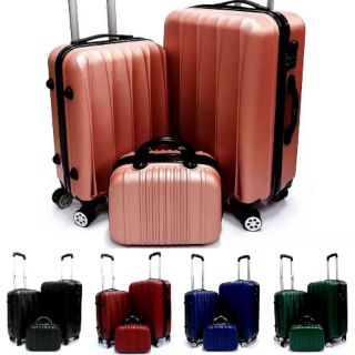 A1🔥ABS quality luggage 3in1 or 2in1 24inch 20inch 12inch