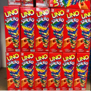 Uno Stacko Board Game for Family and Friends. Great for gatherings &  cafe games