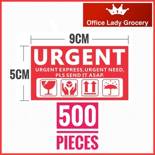 500 PIECES URGENT STICKER WARNING LABEL EXPRESS SEND IT ASAP