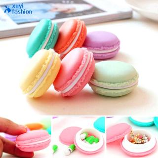 1Pcs Candy Color Cute Macaron Jewellery Box Mini Earing Ring Necklace Jewelry Box Women Girl Accessories Gift