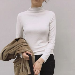 CLEARANCELady High Neck Long Sleeves Knitted Top