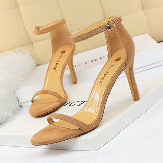 High heels & 126-A9 European and American fashion simple stiletto high heel sued