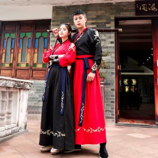 Improved Traditional Costume Hanfu Couple Cp Men And Women Embroidery
