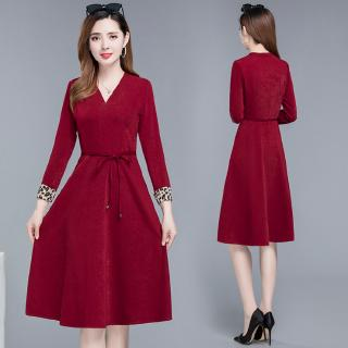 Women Dress Baju Dress Red Dresses Long Sleeve Dinner Dress Maxi Dresses Black Dress