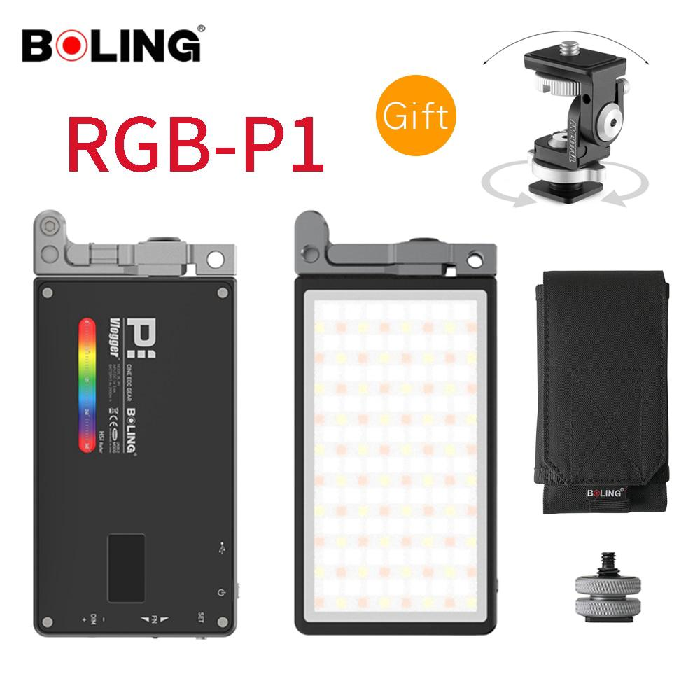 Boling BL-P1 RGB P1 2500K-8500K Dimmable Full Color LED Video Light Photography Studio Camera Light for Vlogging Live