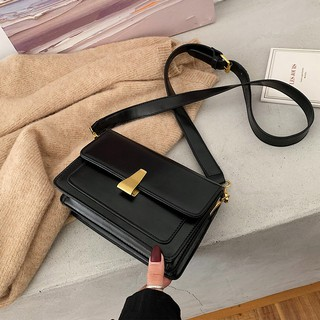 High sense net red small black bag female 2019 new tide Korean version of the wi