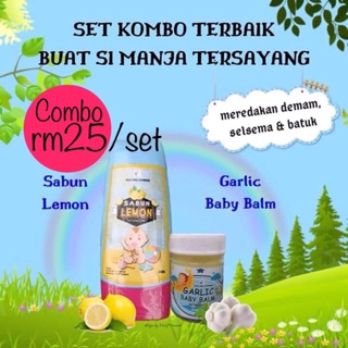 combo sabun lemon + balm garlic