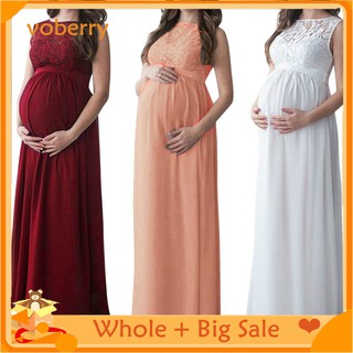 Pregnant Women Lace Long Maxi Dress Maternity Gown Photography Props Clothes