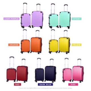 🔥 luggage plain ABS material suitcase 20INCH or 24INCH