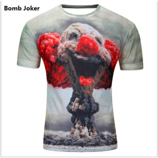 3D Joker T SHIRT SHORT SLEEVE T-SHIRT READY STOCK Guy Baju Men Short Sleeves