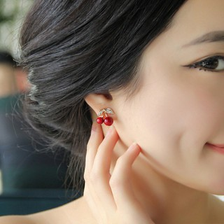 Cute Cherry Fruit Charm Earrings Women Fashion Jewelry