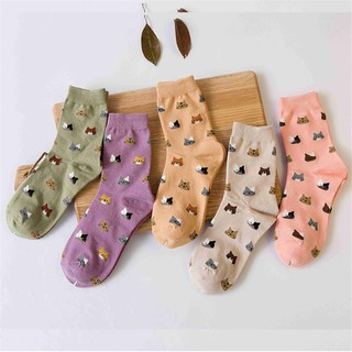 Harajuku Cat Sock Soft Women Cute Cartoon Winter Cotton Warm Socks Girls Socks