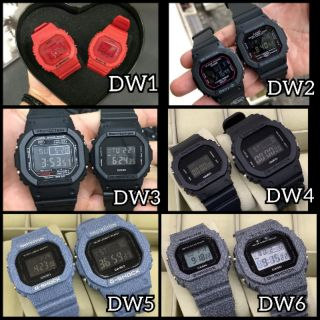 CASIO G SHOCK DW 5600 PETAK COUPLE SET JAM TANGAN COUPLE + FREE COUPLE BOX