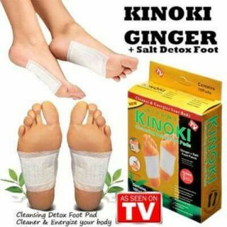 SE KINOKI GINGER + SALT CLEANING DETOX FOOT PATCH