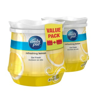 Ambi Pur Room Fresh Gel Fresh Air Refreshing Gel Refreshing Lemon (180g x 2)