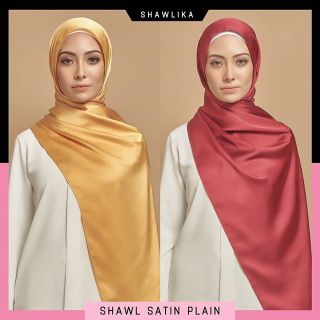 [SALE] SHAWL SATIN MATTE PLAIN